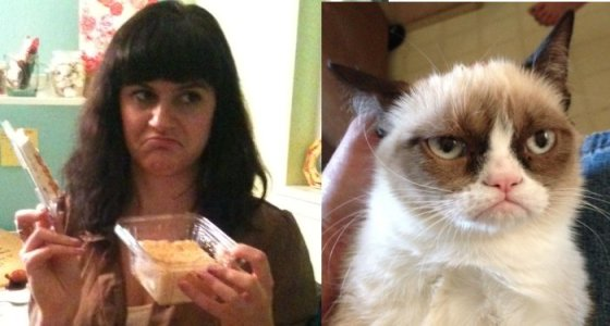 Performance Art: Me as Grumpy Cat